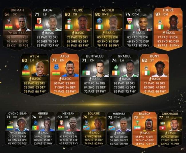 MOTM Toure cards, FIFA 15
